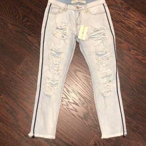 Ashley mason distressed / destroyed jeans